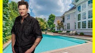 Blake Shelton House Tour $2200000 Brentwood Mansion Luxury Lifestyle