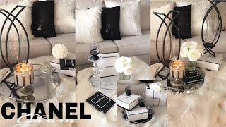 GLAM CHANEL INSPIRED LIVING ROOM IDEAS| LUXURY FOR LESS