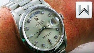 Rolex Oyster Perpetual Day Date, Platinum (18206) Rolex President Luxury Watch Review