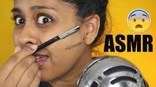 SHAVING MY WHOLE FACE ASMR! Brushing Hair, Tapping, Bubble Sounds