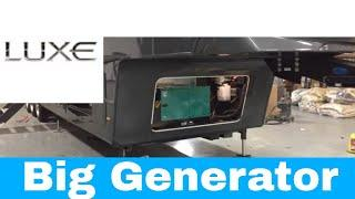 Large Generator for a fifth wheel - Luxe 42MD luxury fifth wheel Personalized