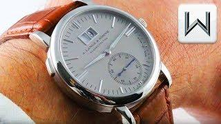 A. Lange & Sohne Saxonia Langematik Micro Rotor Platinum (308.025) Luxury Watch Review