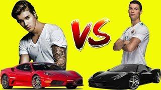 Cristiano Ronaldo & Justin Bieber ' s Luxury Cars Collection Video 2019