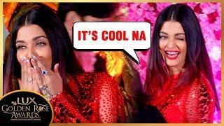 Aishwarya Rai Bachchan In Jolly Mood At Lux Golden Rose Awards 2018
