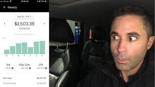 Uber Driver(REAL EARNINGS) From My Best Week As An Uber Driver