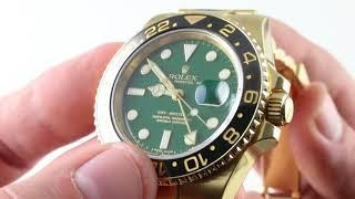 "Rolex GMT-Master II ""Anniversary Green"" 116718LN Luxury Watch Review"