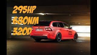 BMW E90 320d INSANE POWER! (Straight Pipe, Remap, Popcorn Limiter)