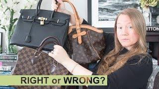 DEBATE: REAL vs INSPIRED vs FAKE Handbags || Louis Vuitton, Chanel, Hermes || Autumn Beckman