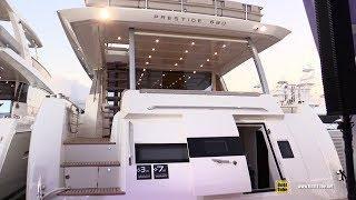 2019 Prestige 680 Luxury Yacht - Deck Interior Walkaround - 2018 Fort Lauderdale Boat Show