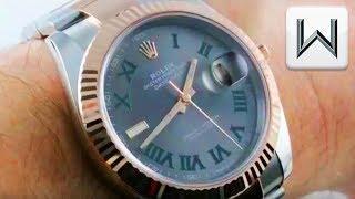 Rolex Datejust 41 Wimbledon Dial/Dark Rhodium 126331 Luxury Watch Review