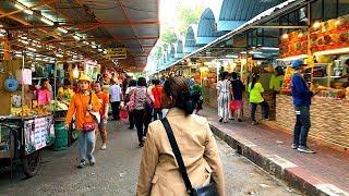COOL LITTLE MARKET NEAR ICONSIAM LUXURY SHOPPING MALL | Klongsan Plaza Market, Bangkok, Thailand