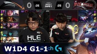 HLE vs KT - Game 1 | Week 1 Day 4 S9 LCK 2019 Summer | Hanwha Life Esports vs KT Rolster G1 W1D4