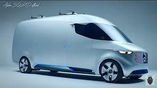 Mercedes Future Vehicle – Future Luxury Van with Self Driving and Delivering Drone / Future Cars