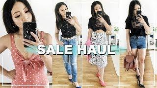 HUGE SUMMER SALE HAUL | TRY ON TOPSHOP ZARA MANGO UNDER £25!