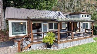 Luxury Lake Lifestyle Living Small Cottage House w/ Large Covered Deck & Double Fireplace Area