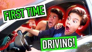 Little Bros FIRST DRIVING LESSON! *$150,000 Luxury Car*