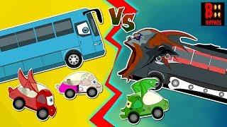 Good Vs Evil Luxury Bus | Scary Transport Vehicles | Halloween Videos For Kids