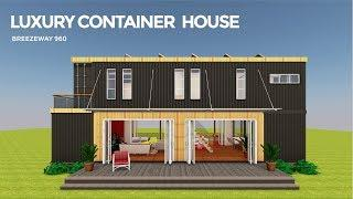 LUXURY SHIPPING CONTAINER HOUSE PLAN DESIGN | BREEZEWAY 960