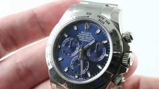 Rolex Daytona 116509 (BLUE DIAL/White Gold) Luxury Watch Review