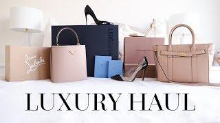UNBOX WITH ME!   LUXURY UNBOXING FT. PRADA, MULBERRY, CHRISTIAN LOUBOUTIN ETC.