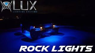 Bright LED Rock Lights on Jeep Wrangler from LUX