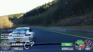 Golf 7 R - leading & chasing Porsche 997 GT3 (Lux) Nordschleife [BtG] 18.04.2015 | mit Mario