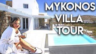 LUXURY VILLA TOUR   MYKONOS GREECE