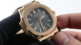 Patek Philippe Nautilus 5711R-001 Rose/Strap  Luxury Watch Review