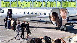 'Warning Bad Omens?' Harry and Meghan's £40m private Luxury plane is hit by lightning