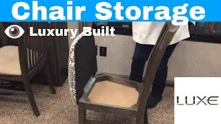 Luxury Fifth Wheel - Fifth Wheel Dinette Chair storage