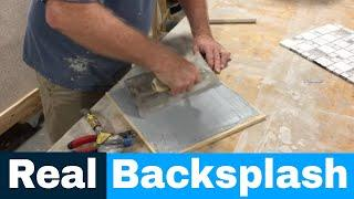 Backsplash Installation - Luxe luxury 5th wheels