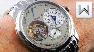 F.P. Journe Tourbillon Souverain FULL BRACELET 40mm - Grey Dial, Platinum,  Luxury Watch Brand