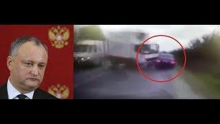 Moldovan President Igor Dodon Car Crash