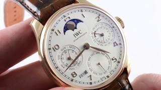IWC Portugieser Perpetual Calendar IW5033-02 Luxury Watch Review