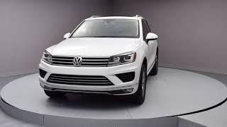 2015 Pure White Volkswagen Touareg 4D Sport Utility #FD001743