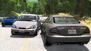 Car Overtaking Crashes Compilation #6 - BeamNG.Drive