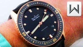 Blancpain Fifty Fathoms Bathyscaphe Dive Watch (5000-36S30-B52A) Luxury Watch Review