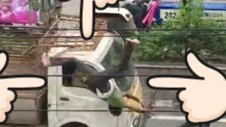 Bike hit Tata ace|Hyderabad