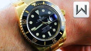 Rolex Submariner, Full Yellow Gold, Cerachrom Bezel 116618LN  Luxury Watch Review