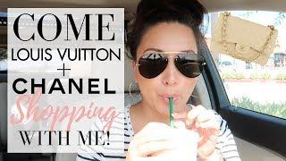 COME LUXURY SHOPPING WITH ME - Chanel + Louis Vuitton | LuxMommy