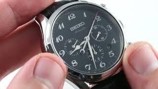 Seiko Presage (URUSHI LACQUER) 60th Anniversary Chronograph Limited Edition SRQ021 Luxury Watch