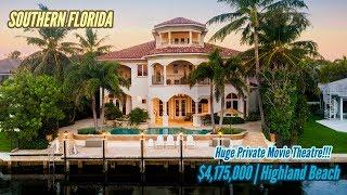 $4,175,000 ~ Stunning Beachside Waterfront Property (SOUTHERN FLORIDA)