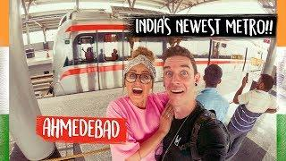India's NEWEST Luxury Metro Train Ahmedabad!! ???????? Kinging-It India