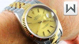 Rolex Datejust Two Tone Jubilee Bracelet (16233) Luxury Watch Review