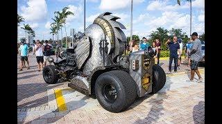 High-Speed BEAST 1000HP Helmet Medieval One Hot Rod One of a Kind Interior Exterior start up & Drive