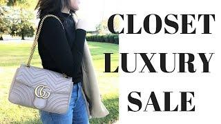 MY CLOSET LUXURY SALE!  CHANEL, LOUIS VUITTON, GUCCI