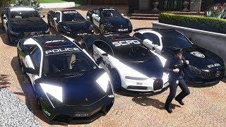 GTA 5 - Stealing Luxury Police Cars with Michael! (Expensive Real Cars #04)