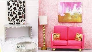 DIY Miniature Dollhouse Room | Luxury Living Room Tutorial