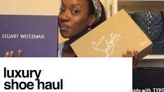 Luxury Shoe Haul Unboxing // Ahhhsoneo
