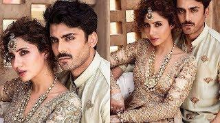 Mahira Khan and Fawad Khan Unrecognisable Look in a Latest Photoshoot